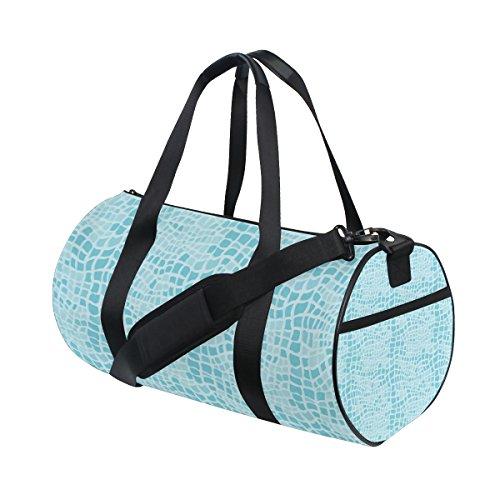 jstel Alligator Muster Sports Gym Tasche für Frauen und Herren Duffle Reisetasche (Alligator Handtuch)