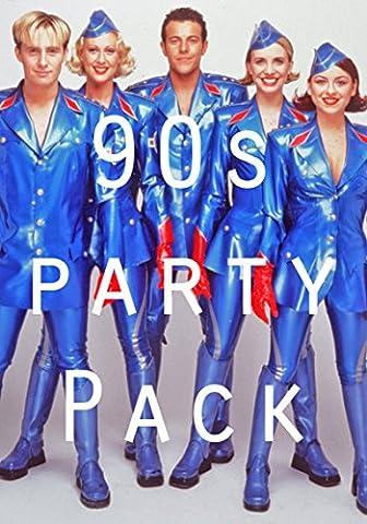Party-Dekorationen-Set, 90er Jahre-Design, Poster, Ballons, Wimpelkette, etc.