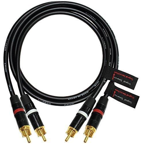 2,5m, RCA Kabel A Paar mit canare l-4e6s Star Quad und Anschlusskabel Audio Kabel Neutrik NYS Gold Stecker, RCA, End-Directional Topographie für Musikliebhaber über der Verweigerung und von Leistung, Eigenschaften, 2Kabel, jeder Kabel ist lang 2,5m, für Kanal rechts und links)