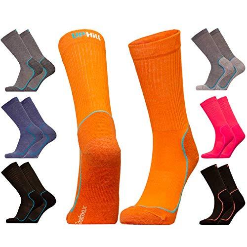 UPHILLSPORT Trekking- und Wander-Socken | 4-Layer Drytech Merino Coolmax | Kevo | Rosa-Pastell 39-42