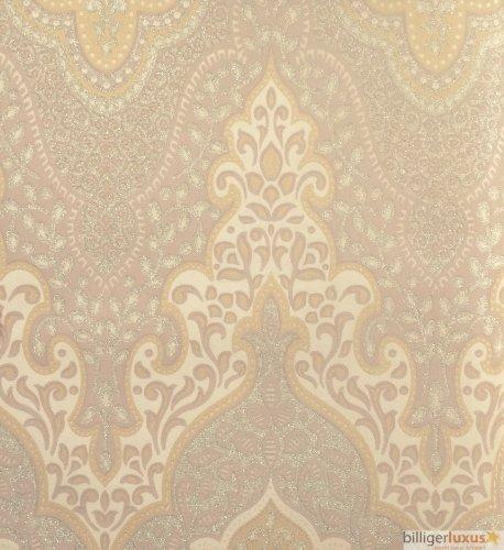 Vliestapete Orient Barock 404715 Beige Glamour Glitzer Von Rasch