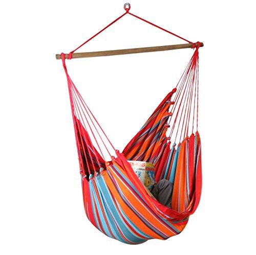 macamex Cayo Grande Sunset original Fauteuil suspendu XL en Amérique du Sud rouge, orange, turquoise