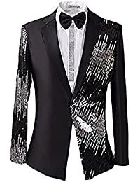 Hombre 2Piezas Casual un botón hombres brillante Flash diseño de esmoquin de boda fiesta