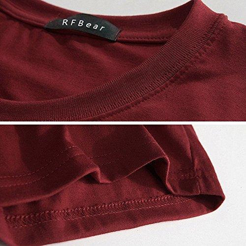 RFBear -  Maglia a manica lunga  - Uomo Red Wine