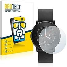 BROTECT AirGlass Protector Pantalla Cristal Flexible Transparente para Pebble Time round Protector Cristal Vidrio - Extra-Duro, Ultra-Ligero, Ultra-Claro