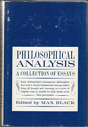 Philosophical analysis: A collection of essays