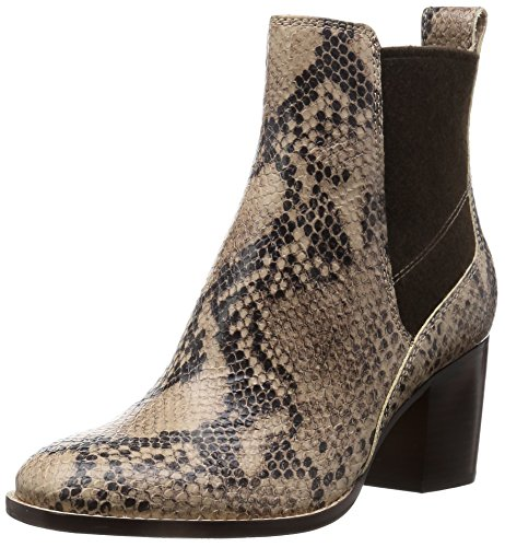 Clarks Damen Othea Ruby Kurzschaft Stiefel, Beige (Sand Snake Leather), 37 EU (Snake Leather Stiefel)
