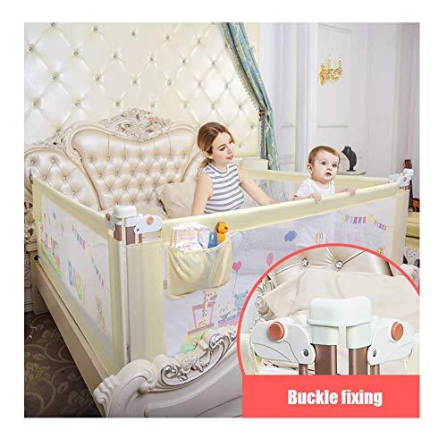 SISHUINIANHUA Baby-Bett-Geländer, Bettzaun Baby-Fallschutz-Geländer Vertikales Heben Baby-Kind-Bett Seitenwand für Gitterzaun für Cabrio-Kinderbett,Pink,1.5m - Cabrio Kinderbett