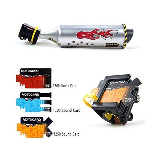 Kunststoff Bike Auspuff Sound System Turbo Fahrradspeichen Umrüstung Motorrad Motor Geräusche Rohr mit 3verstellbare Turbo Motorrad Sound
