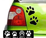 Pfoten Aufkleber Pfotenaufkleber Pfötchen Autoaufkleber Hundepfoten Farb+Motivwahl 4 x 5 cm in 33 Farben matt oder glänzend