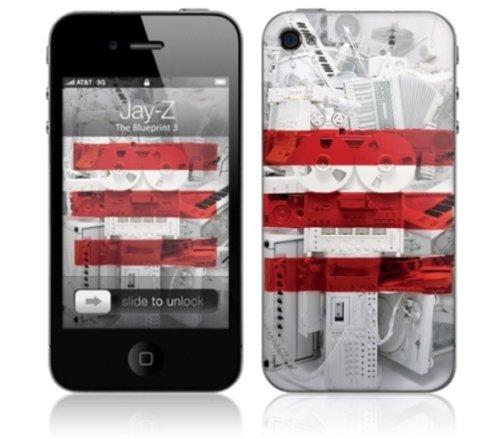 MusicSkins JayZ The Blueprint 3 selbstklebende Schutzhülle für Apple iPhone4