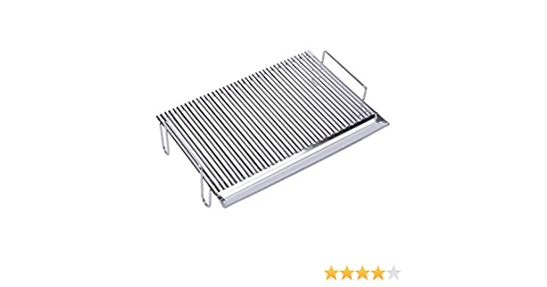 Silver 55x44x15 cm WITH LEGS Sauvic V-SHAPED 18//8 STAINLESS STEEL GRILL RACK 55 X 44 CM