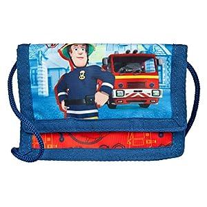 Undercover FSTU7000 – Feuerwehrmann Sam Geld- und Brustbeutel, mit Klettverschluss, Kordelband, Geldscheinfach und Münzfach, ca. 8 x 13 x 5 cm