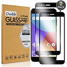 [2 Pack] Owbb Tempered Glass Screen Protector For Xiaomi Mi 5X / Xiaomi Mi A1 Black Full Coverage Film 99% Hardness High Transparent Explosion-proof