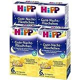 Hipp organiques flacons Bonne nuit après 6 mois, 4 pièces (4 x 500g)