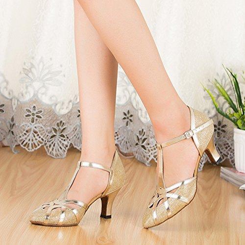 Minitoo, Scarpe da ballo donna Glitter-Gold