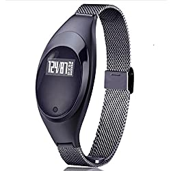 Joyeer Fashion Style Smart Watch Wasserdicht Männer Frauen Smart-Bracket Sports SmartBand Pedometer Fitness Tracker Blutdruck -Puls-Monitor-Smart-Band für iOS Android , black