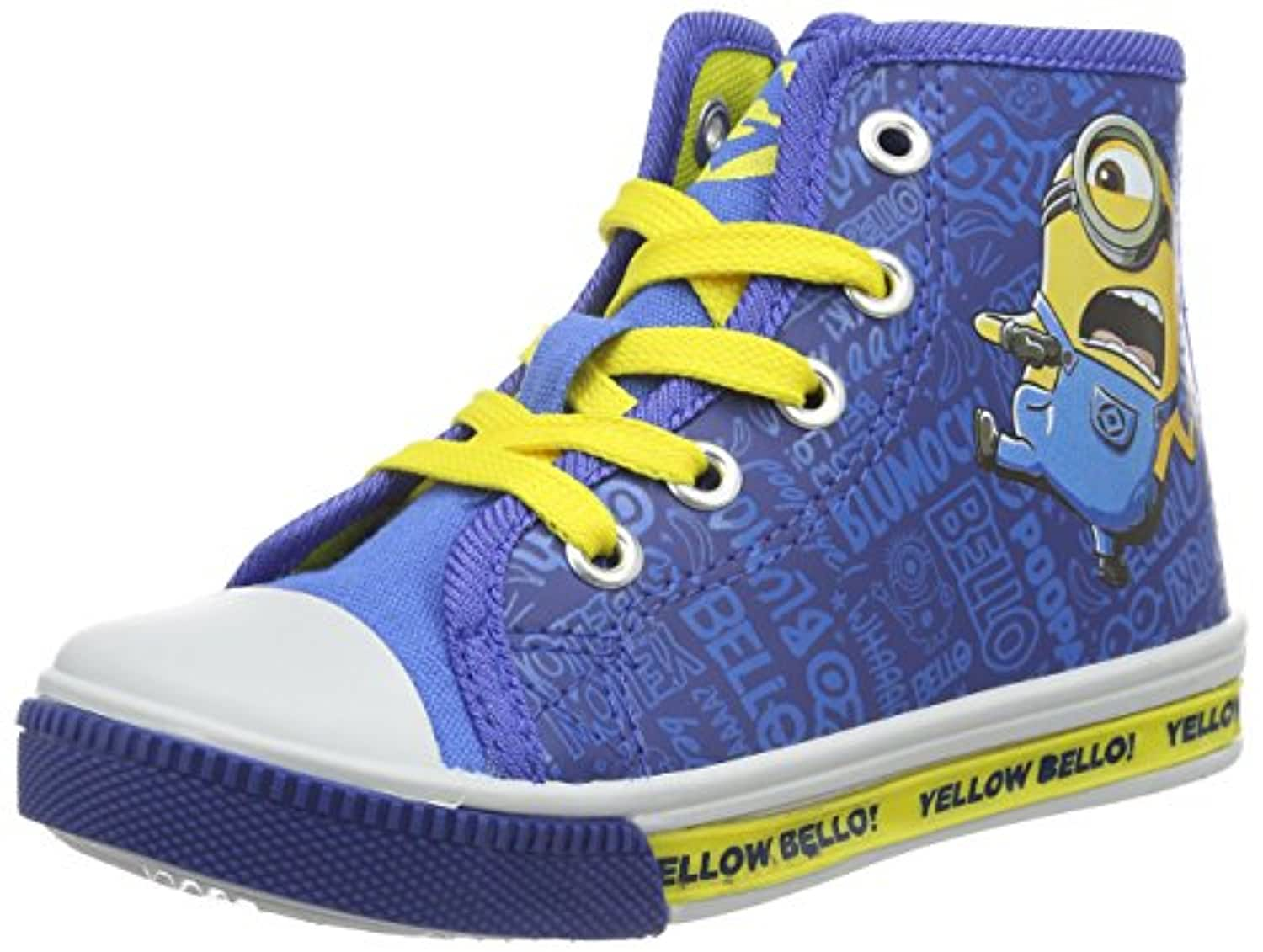 MINIONS Boys' Boys Kids High Sneakers Low-Top Sneakers blue Size: 1