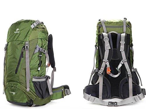 Bergsteigen Taschen 40l Rucksack Männer Tasche Rucksack Suspension atmungsTasche im Freien Wandern Grün