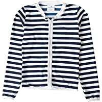 Snapper Rock 229G/8 - Ropa de natación con protección solar para niña, color azul marino/blanco, talla UK: 7-8 años