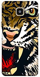 The Racoon Grip Amber Snarling Tiger hard plastic printed back case / cover for Samsung Galaxy A5 (2016)