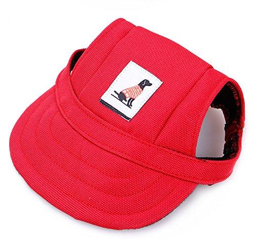 Cutepet Verstellbarer Hundecap Baseball Mütze Gurt Hat Mütze Kappe Sunbonnet Für Haustier Hund Katze,Red,M