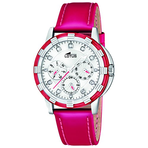 bd4ad5ab500c Lotus 15746 3 - Reloj analógico de cuarzo para mujer con correa de piel