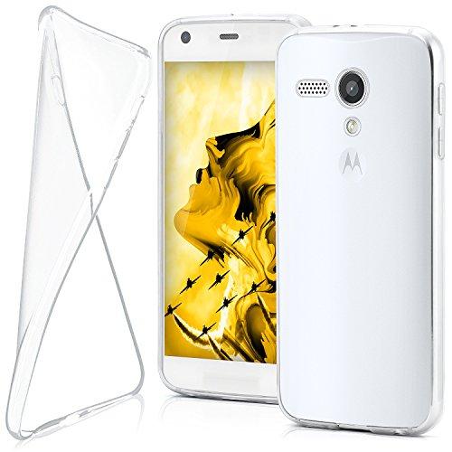 Motorola Razr i   Hülle Silikon Transparent Klar [OneFlow Clear Back-Cover] TPU Schutzhülle Dünn Handyhülle für Motorola Razr i Case Ultra-Slim Silikonhülle Rückseite