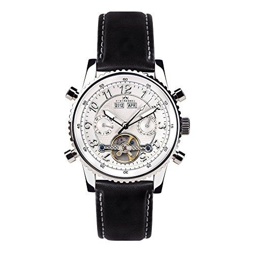 Orologio automatico Hindenberg Professional cuoio/argento/argento
