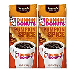Dunkin' Donuts Dunkin Donuts Ground Coffee (Pack Of 2) (Pumpkin Spice)11 Oz (22 Oz Total)