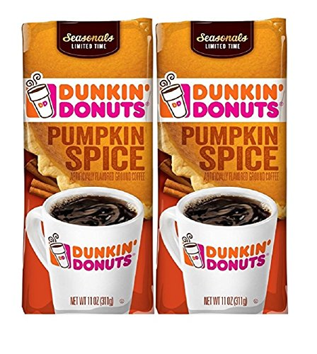 Dunkin' Donuts Dunkin Donuts Ground Coffee (Pack Of 2) (Pumpkin Spice)11 Oz (22 Oz Total) 517nNGG2N6L