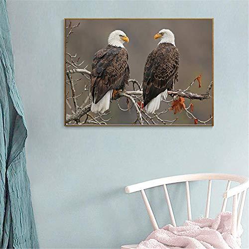 Leinwanddruck Adler Vogel Porfile Raubtier Wildlife Animal Print Wandmalerei Leinwand Kunst Wohnzimmer Dekoration Schlafzimmer 50Cmx70Cm -