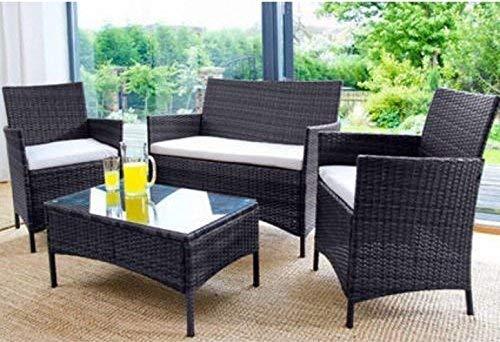 Sedie In Rattan Da Interno : Ebs set di mobili ratten vimini patio da giardino prato arredamento