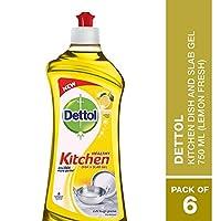 Dettol Kitchen Dish and Slab Gel Lemon Fresh 6 units x 750 ml