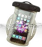 Dolder Wasserchite Armbandtasche wasserdichte Handytasche Hülle mit Armband für iPhone 8/7/6s/6/SE/5/5S, huawei P10/P10lite/P9 und andere 4.3~5.1 zoll Smartphone wie Samsung Galaxy S7/S6/S5/S4/S3/Mini, HTC One M7/M8/M9/Mini,Desire, LG Nexus 5, Sony Xperia XA/Xpirea X/Xperia X Performance/Z5 Compact/Z3 Compact , Google Nexus 4/5, Blackberry Passport, Nokia Lumia 1020/930/630, Motorola Moto E/MOTO G/MOTO X usw. in grau