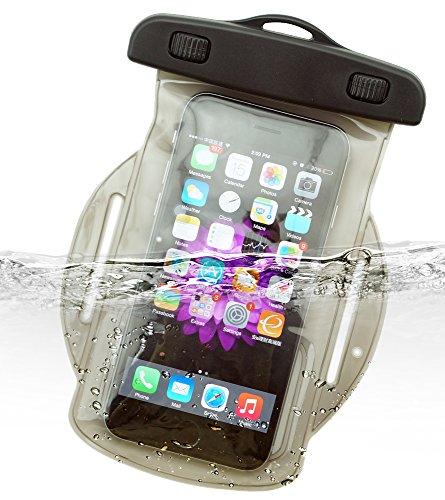 Dolder Wasserchite Armbandtasche wasserdichte Handytasche Hülle mit Armband für iPhone 8/7/6s/6/SE/5/5S, huawei P10/P10lite/P9 und andere 4.3~5.1 zoll Smartphone wie Samsung Galaxy S7/S6/S5/S4/S3/Mini, HTC One M7/M8/M9/Mini,Desire, LG Nexus 5, Sony Xperia XA/Xpirea X/Xperia X Performance/Z5 Compact/Z3 Compact , Google Nexus 4/5, Blackberry Passport, Nokia Lumia 1020/930/630, Motorola Moto E/MOTO G/MOTO X usw. in grau (Samsung Tablet Zip Etui)