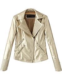 san francisco 242dc 6fbc4 giacca pelle - Oro: Abbigliamento - Amazon.it
