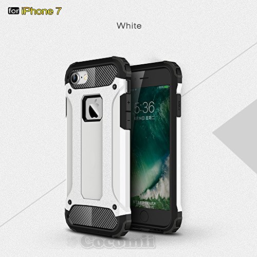 iPhone 8 / iPhone 7 Hülle, Cocomii Commando Armor NEW [Heavy Duty] Premium Tactical Grip Dustproof Shockproof Hard Bumper Shell [Military Defender] Full Body Dual Layer Rugged Cover Case Schutzhülle A White
