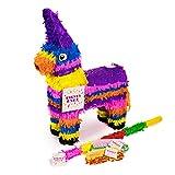 Trendario Esel Pinata Set, Pinjatta + Stab + Augenmaske, Ideal Zum Befüllen mit Süßigkeiten und Geschenken - Piñata