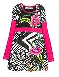 Desigual Mädchen Kleid Vest_Porto-NOVO, Schwarz (Negro 2000), 128 (Herstellergröße: 7/8)