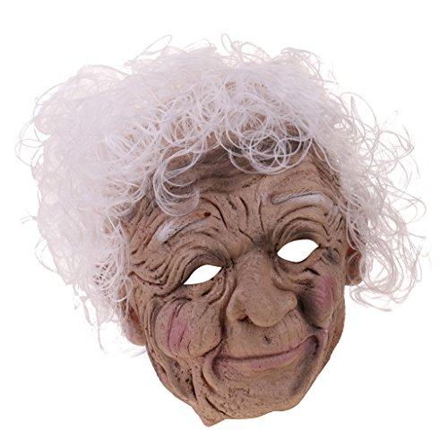 Gazechimp Halloween Alte Hexen Maske aus Latex
