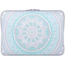 11-13.3 pulgadas Laptop Sleeve Funda , iCasso Blue Medallion Pattern bolsa con asa Bolsa de Transporte de para MacBook Air, MacBook Pro / Pro Retina, Ordenador Portátil Notebook, Ultrabook
