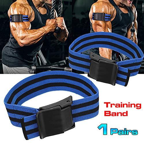 Yimosecoxiang Trainingsgürtel 2 Stücke Fitness Gym Arm Muscle Strap Blutfluss Beschränkung Occlusion Trainingsgürtel