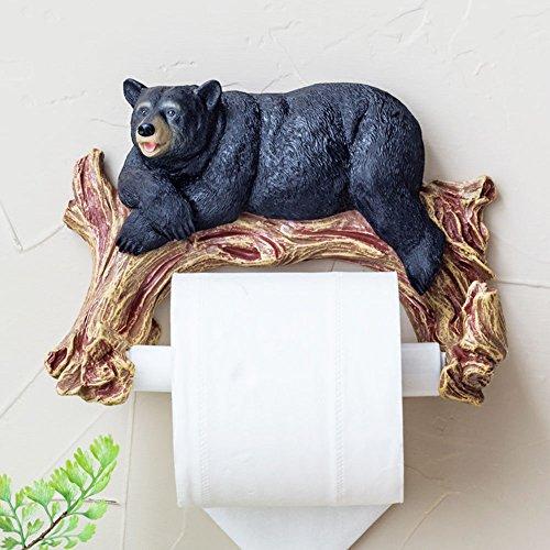 Toilettetenpapierhalter, Badezimmer Toilette Papier halter, Lustig Cute Form zu tragen, Harz material-Schwarz (Tragen Wc-papierhalter)