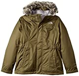 The North Face Girl's Greenland Down Parka - Burnt Olive Green - L (Past Season)