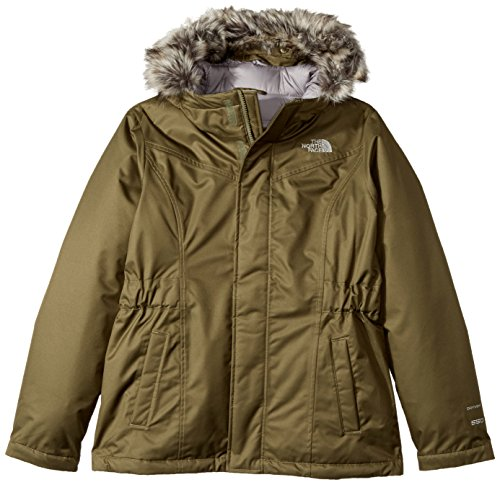 The North Face Girl's Greenland Down Parka - Burnt Olive Green - L (Past Season) North Face Down Coat