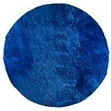 Pile Poil tap-r-BO Teppich rund D 140cm pilepoil Teppich, Kunstfell, rund blau Ozean 35x 35x 35cm