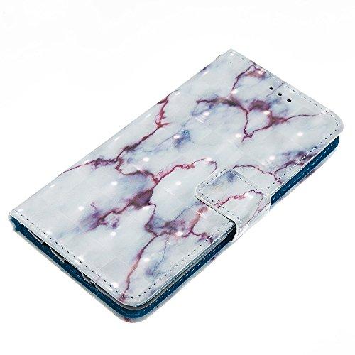 Marmor Stein Grain Texure Pattern PU Ledertasche Cover, Retro Bookstyle Flip Stand Case mit Magnetverschluss & Card Slots & Lanyard für LG K8 2017 LV3 ( Color : D ) B