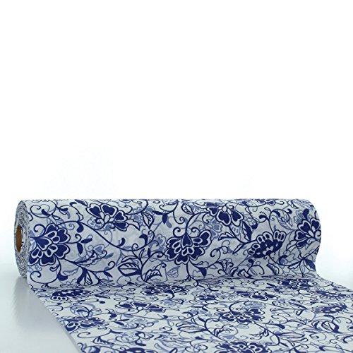 s® Airlaid Tischläufer 24 m x 40 cm | praktische Einmal-Tischläufer für Hochzeit oder Partys | Liv | 1 Stück (Blau) ()