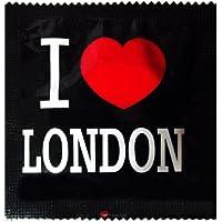 I Luv LTD I Heart London Neuheit Condom 3er Pack preisvergleich bei billige-tabletten.eu